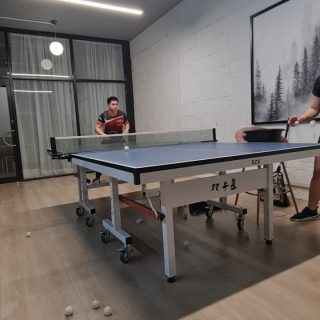 Just a little hit before 🎅 is here.  #tabletennis #backhand #trainbeforechristmas