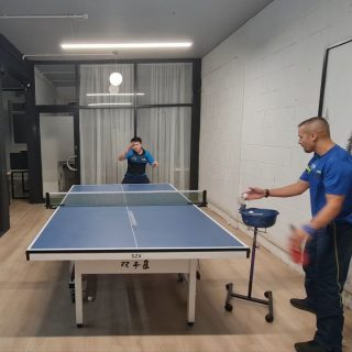 🏓 Exercise: Random muti ball 🏓  Struggled 10/10  Tiredness 10/10 Improvements needed 10/10  Love the intensivity of the exercise. It really helps with speedy recovery and reading the placement of the next ball quickly.   Thank you for the exercise suggestion Paul Laverty. Unfortunately it wasn't the best quality yet, but it is something I will be working on and will get better at. 🙏🙏🙏  Want to request another exercise for me to work on? Comment below or DM me. Don't be shy!!!   See you in the next video.  Massive thank you to @_ebatt for making this video possible.  #tabletennis #tabletennistraining #mutiballtraining #randonmutiball #swaeter